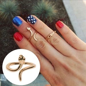 18k Gold Plated Snake Midi Ring